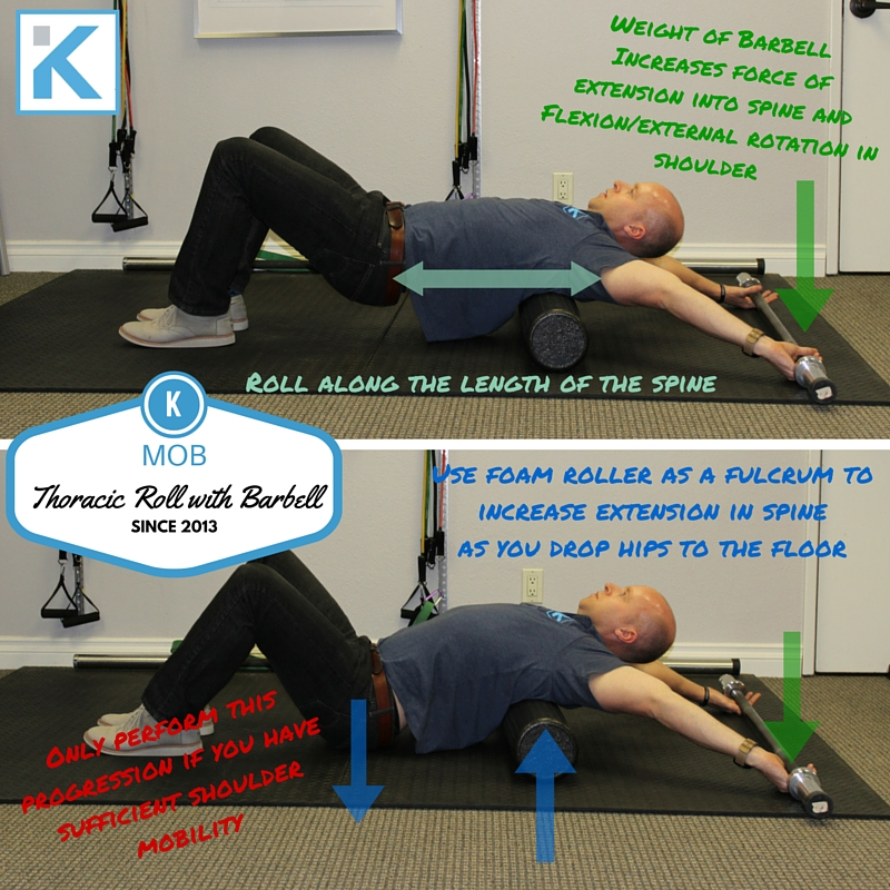 Thoracic Roll with Barbell